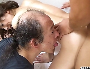 Asian slut getting slammed painless she gets become absent-minded doggy style
