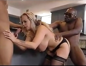 Big black cocks fuck a mature woman