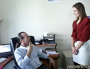 Innocent Teen assfucked by Boss at Work