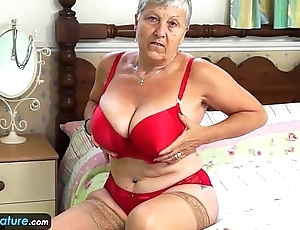EuropeMature Granny Savana ought to do it herself