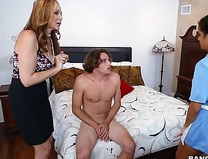 Busty stepmom shows young  adolescence a thing or two