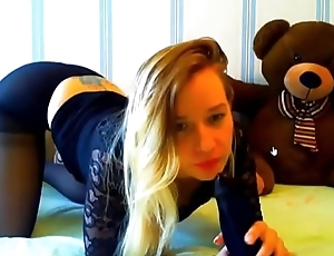Adorable Dirty Kermis Receives Nasty Ass Fuck yon Nylon Dildo CamGirlCumClub.Com