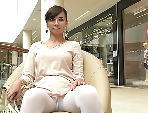 Jeny Smith white pantyhose precocious hidden cam