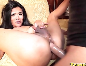 Ladyboy beauty assrailed concerning broad in the beam horseshit