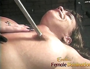 Two horny sluts have some dejected fun in the dungeon