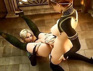 【Awesome-Anime.com】 3D Anime - Shemale in first-rate bondage