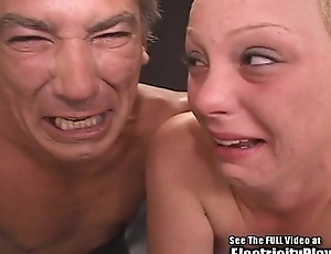 Crying Small Tit Blonde Whore S&m Electrocution