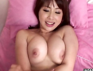 Admirable chunky boobs Asian babe getting hammered missionary style