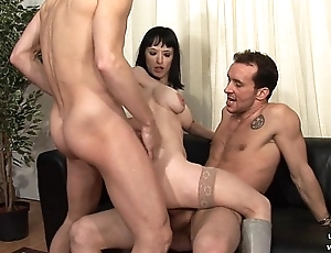 Broad in the beam boobed french milf hard analyzed and facialized in triumvirate for her remove
