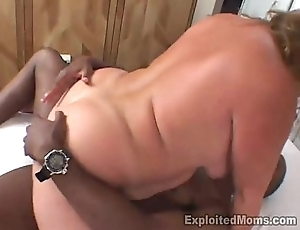 Beamy redhead receives slammed then creamed by hung guy BBW Video