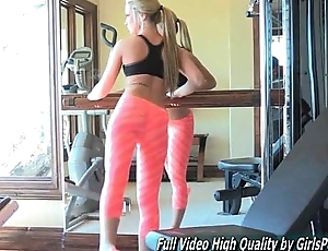 Sydney sexy porn solo blonde gym work topless