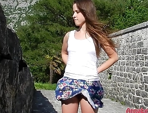 Buoyant Upskirt and No Panties in Public