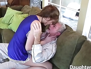 Older Guy Pounds Erotic Stepdaughter