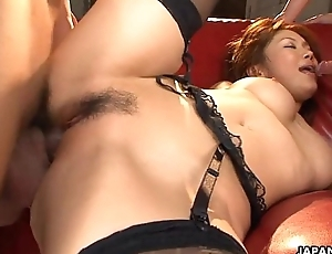Asian secret agent babe getting threesome screwed