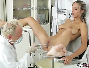 Busty Tanned Teen Blonde Acquire A Uncompromised Checkup From Doctor