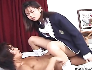 Cock drag inflate Oriental babe getting hers down added to lasting