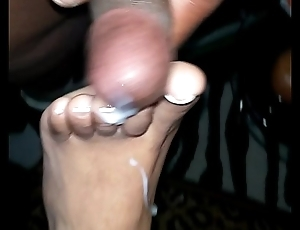 cumming on my wifes feet