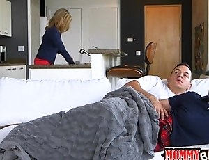 Stepmom and teen slut amazing troika with horny day