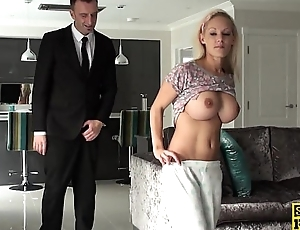 Bigtitted english sub doggystyled and toyed