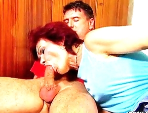 German granny gets fucked into ass