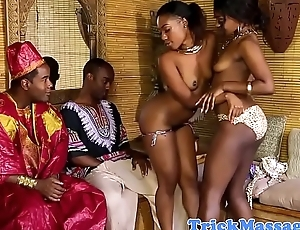 African masseuses eating and fucking